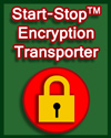 Start-Stop Encryption Transporter art