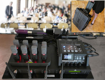 Start-Stop PUMA System on table at conference