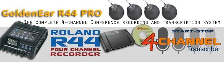 Complete Roland R44 4-Channel Recording and Transcription System