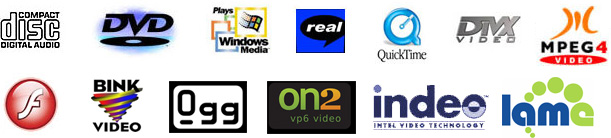 PP4 supports most popular and obscure audio formats