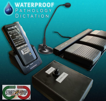 Start-Stop Waterproof Hands-Free Dictation System
