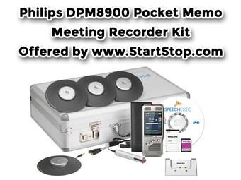 Philips DPM8900 Pocket Memo Meeting Recorder Complete Kit