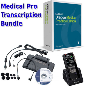 The transcription and dictation kit for your medical practice: DS-7000 + Dragon Medical Practice Edition 4 + Olympus AS-7000