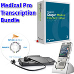A masterful kit for handling all your medical practice needs: DPM-8000 + Dragon Medical Practice Edition 4 + Philips 7277 (*box is for display purpose only. Dragon Medical Practice Edition 4 is a digital download.)