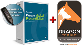 Model #93005 - Dragon Medical Practice Edition 2.3 + PowerMic III + Dragon Veterinary Mixed Animal