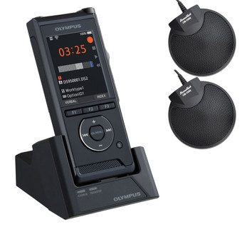 Olympus DS-9500 Conference Recording Bundle with 2 CM-1000 microphones