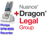 Legal Package: Dragon Legal Group 14 + Philips DPM-8000 Bundle