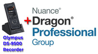 Professional Package: Olympus DS-9500 and Nuance Dragon Professional Group 15
