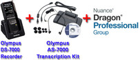 Power Professional Manual Transcription Bundle Option DS-7000 + Olympus AS-7000 + Dragon Professional Group 14 Transcription Kit