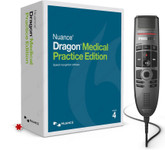 Nuance Dragon Medical Practice Edition 4 with Philips SpeechMike Premium Touch SMP3700 (*box is for display purposes only. Dragon Medical Practice Edition 4 is a digital download)