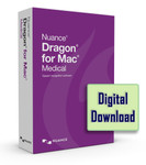 Nuance Dragon for Mac Medical version 5 Digital Download Delivery