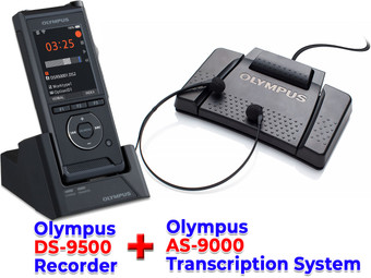 Olympus DS-9500 + Olympus AS-9000 Dictation and Transcription Bundle