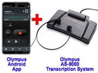 Olympus Mobile Phone Dictation App For Android + Olympus AS-9000 Transcription System Bundle