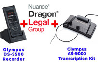 Power Legal Manual Transcription Bundle Option Dragon Legal Group 15 + DS-9500 + Olympus AS-9000 Transcription Kit