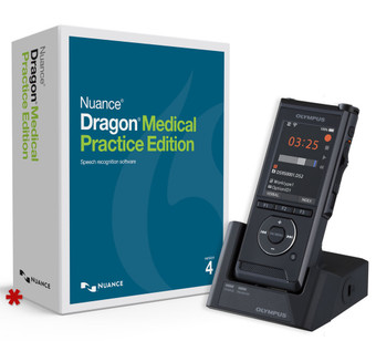 Dragon Medical Practice Edition 4 with DS-9500 (*box for display purposes only).