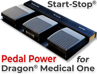 Start-Stop Pedal Power for Dragon Medical One Non-Waterproof Model #30510