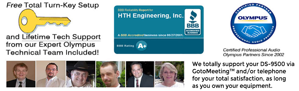 HTH Engineering provides lifetime support for your purchase of the DS-9500.