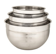 Cuisipro Stainless Steel 3pc Mixing Bowl Set
