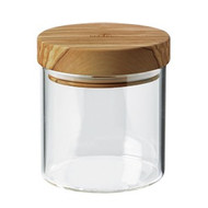 Glass Jar With OLIVEWOOD Lid   20oz/0.61