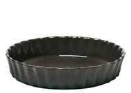 "Emile Henry Fusain Deep Flan Dish 30cm/11.8"" 2.5L/2.5qt"