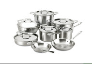 All-Clad 14 Piece Brushed Stainless D5 Set