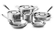 All-Clad 10 Piece Polished D5 Stainless Set