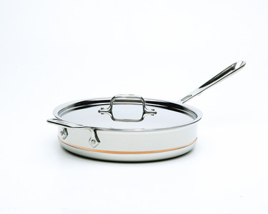 All Clad 3 Qt Copper Core Saute Pan W Lid