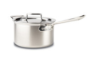 All Clad Brushed D5 4 Qt Sauce Pan w/ Lid