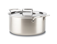 All Clad Brushed D5 8Qt. Stock Pot w/ Lid