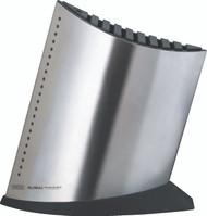 Global Stainless Steel Ship Shape 10 Slot Knife Block