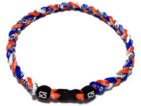 3 Rope Titanium Necklace (Blue/Orange/White)