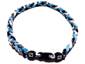 3 Rope Titanium Necklace (Light Blue/Black/White)