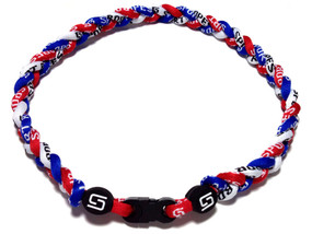 3 Rope Titanium Necklace (Red/White/Blue)