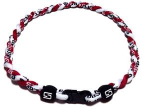 2 Rope Titanium Necklace (Maroon/White)