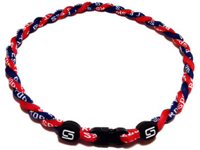 2 Rope Titanium Necklace (Navy/Red)