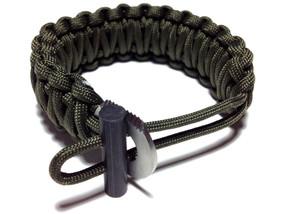 King Cobra 550 Paracord Bracelet (Army Green)