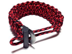 King Cobra 550 Paracord Bracelet (Red/Black Camo)