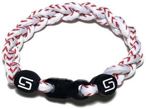 3 Rope Titanium Bracelet (Baseball)
