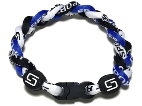 3 Rope Titanium Bracelet (Blue/Black/White)