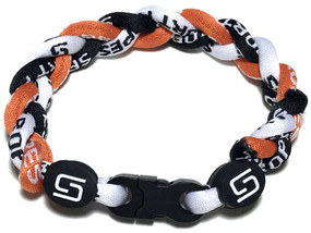 3 Rope Titanium Bracelet (Orange/Black/White)