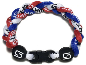3 Rope Titanium Bracelet (Red/White/Blue)