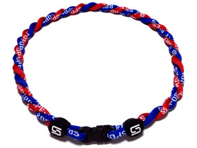 2 Rope Titanium Necklace (Blue/Red)