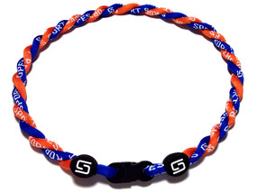 2 Rope Titanium Necklace (Blue/Orange)