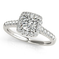 14k White Gold 1.00ct Cushion Cut Diamond Engagement Ring (1.36ct t.w)