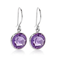 5.00Ct t.w Round Amethyst Earrings in .925 Sterling Silver
