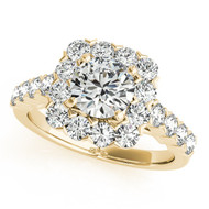 14K Yellow Gold 1/2CT Round Diamond Engagement Ring(1.30ctw)