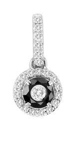 Tuxedo Pendant with Black & White Diamond (.75ct)