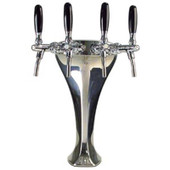 Cobra - 4 Faucet - Polished Chrome - Glycol Cooled