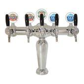 Illuminated Brigitte - 5 Faucets - Chrome Finish - Glycol Cooled