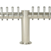 "Metropolis ""T"" - 8 Faucets - Polished Stainless Steel - Glycol Cooled"